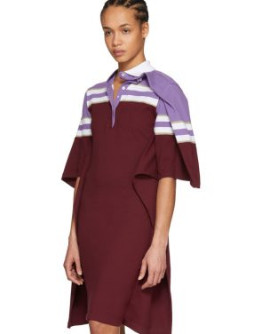 photo Violet and Burgundy Striped Polo Dress by Y/Project - Image 5