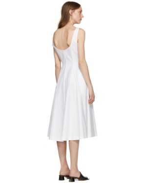 photo White Cindy Dress by Khaite - Image 3