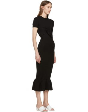 photo Black Rosalind Dress by Khaite - Image 2