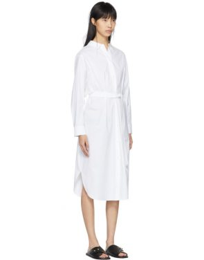 photo White Tonet Shirt Dress by Kuho - Image 2