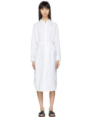 photo White Tonet Shirt Dress by Kuho - Image 1