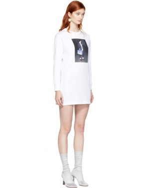 photo White Winona T-Shirt Dress by Ashley Williams - Image 2