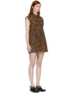 photo Brown and Black Tiger Ray Dress by Ashley Williams - Image 2