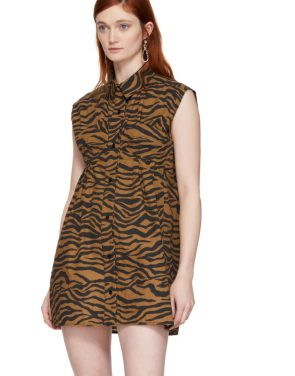 photo Brown and Black Tiger Ray Dress by Ashley Williams - Image 4