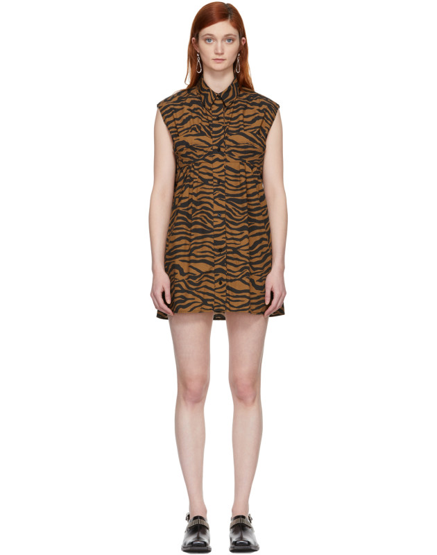 photo Brown and Black Tiger Ray Dress by Ashley Williams - Image 1