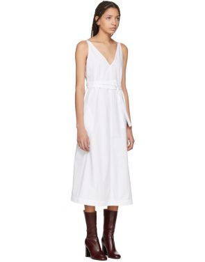photo White Poplin Tie Dress by Joseph - Image 2