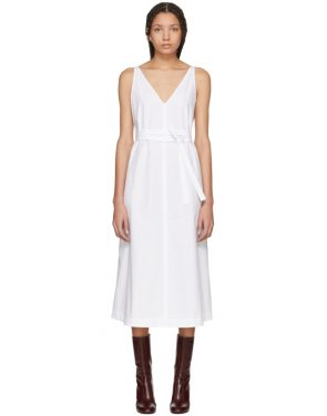 photo White Poplin Tie Dress by Joseph - Image 1