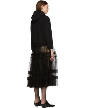photo Black Tulle Hoodie Dress by Chika Kisada - Image 3