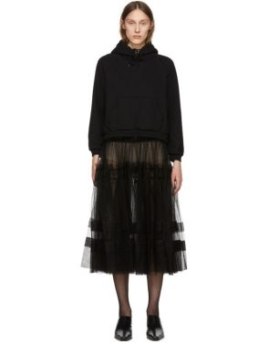 photo Black Tulle Hoodie Dress by Chika Kisada - Image 1