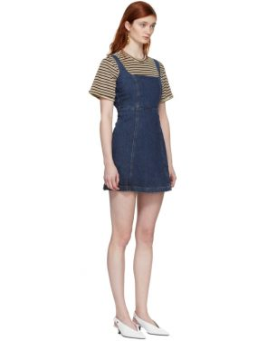 photo Blue Denim Mini Dress by Alexachung - Image 2