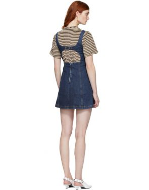 photo Blue Denim Mini Dress by Alexachung - Image 3
