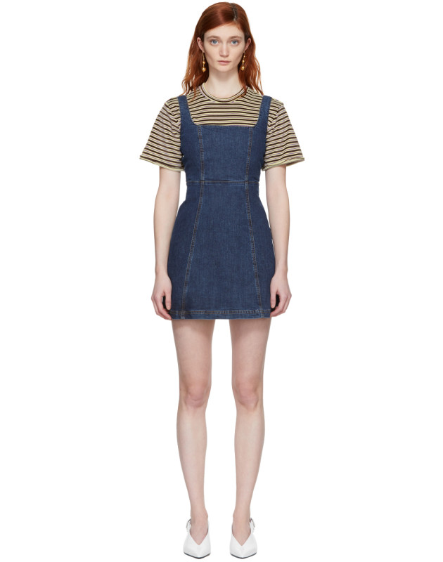 photo Blue Denim Mini Dress by Alexachung - Image 1