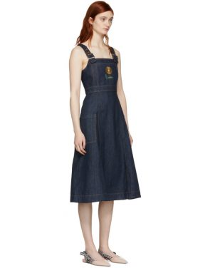 photo Indigo Midi Apron Dress by Alexachung - Image 2