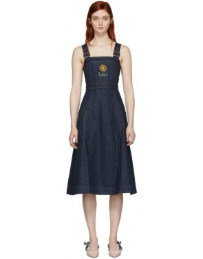 photo Indigo Midi Apron Dress by Alexachung - Image 1