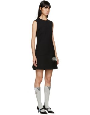photo Black Short Gum Patch Dress by Prada - Image 2