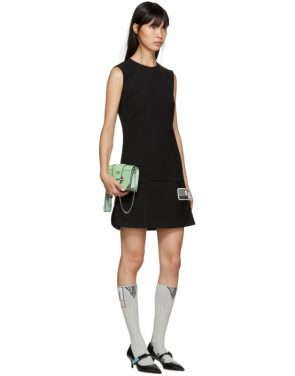 photo Black Short Gum Patch Dress by Prada - Image 4