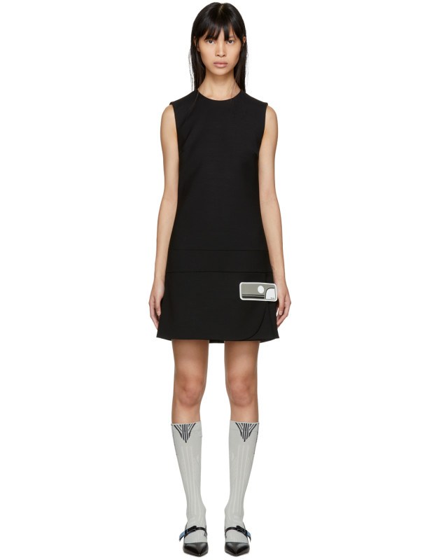 photo Black Short Gum Patch Dress by Prada - Image 1