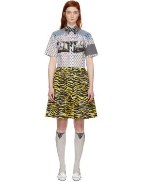 photo Multicolor Mixed Comic Print Dress by Prada - Image 1