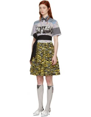photo Multicolor Mixed Comic Print Dress by Prada - Image 4
