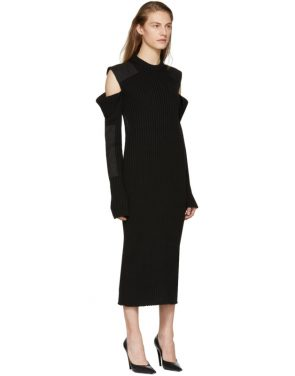 photo Black Cut-Out Shoulder Uniform Knit Dress by Calvin Klein 205W39NYC - Image 2