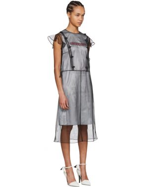 photo Black Tulle Layered Dress by Calvin Klein 205W39NYC - Image 4