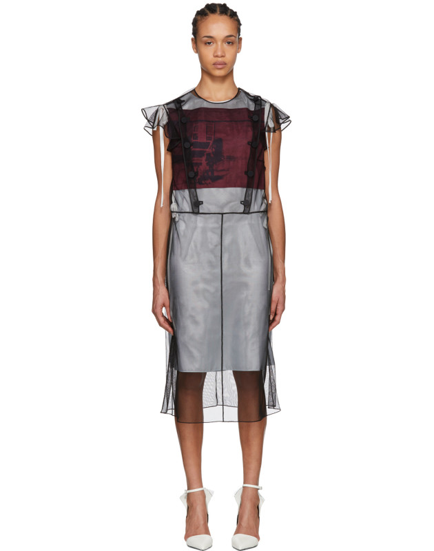 photo Black Tulle Layered Dress by Calvin Klein 205W39NYC - Image 1