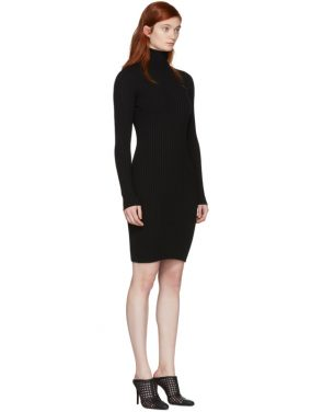 photo Black Merino Rib Dress by Wolford - Image 2