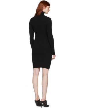photo Black Merino Rib Dress by Wolford - Image 3