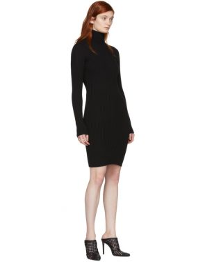 photo Black Merino Rib Dress by Wolford - Image 5