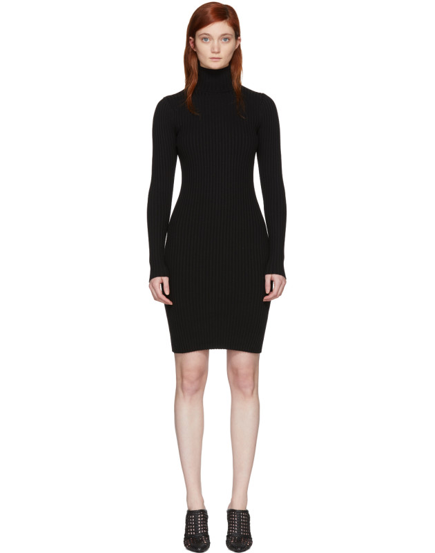 photo Black Merino Rib Dress by Wolford - Image 1