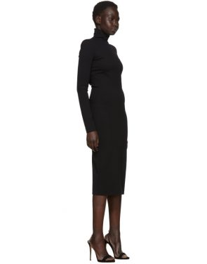 photo Black Compact Jersey Turtleneck Dress by Dsquared2 - Image 2