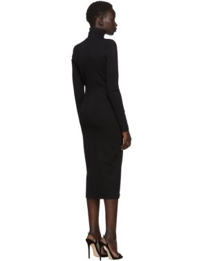 photo Black Compact Jersey Turtleneck Dress by Dsquared2 - Image 3