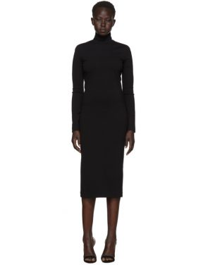 photo Black Compact Jersey Turtleneck Dress by Dsquared2 - Image 1