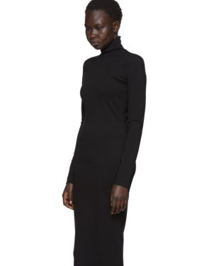 photo Black Compact Jersey Turtleneck Dress by Dsquared2 - Image 4