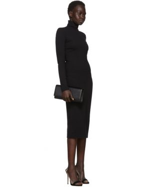 photo Black Compact Jersey Turtleneck Dress by Dsquared2 - Image 5
