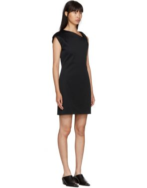 photo Black Twist Tank Dress by Helmut Lang - Image 2