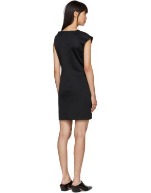 photo Black Twist Tank Dress by Helmut Lang - Image 3