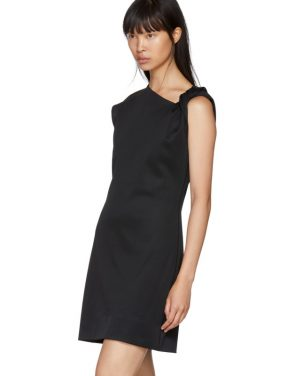 photo Black Twist Tank Dress by Helmut Lang - Image 4