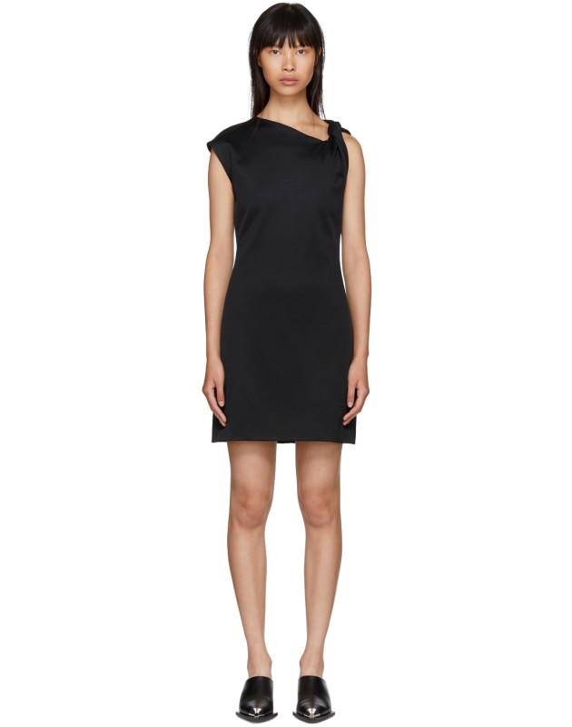 photo Black Twist Tank Dress by Helmut Lang - Image 1