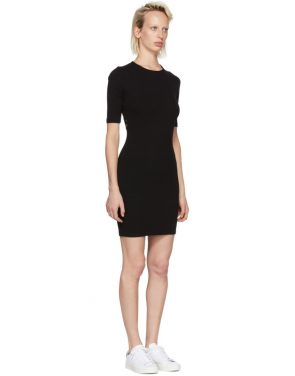 photo Black Rib Logo Dress by T by Alexander Wang - Image 2
