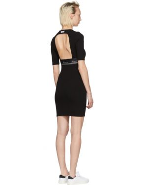 photo Black Rib Logo Dress by T by Alexander Wang - Image 3