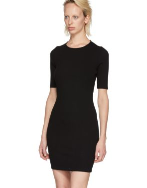 photo Black Rib Logo Dress by T by Alexander Wang - Image 4