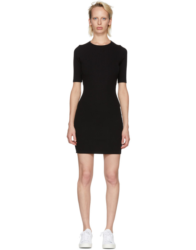 photo Black Rib Logo Dress by T by Alexander Wang - Image 1