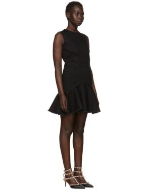 photo Black Mini Denim Dress by Alexander McQueen - Image 2