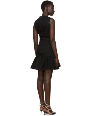 photo Black Mini Denim Dress by Alexander McQueen - Image 3