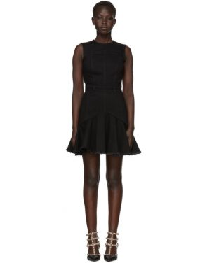 photo Black Mini Denim Dress by Alexander McQueen - Image 1