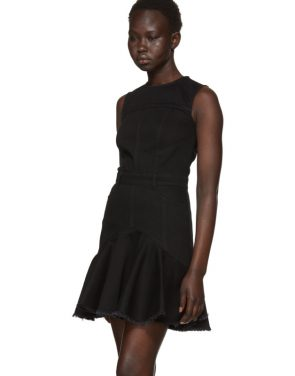 photo Black Mini Denim Dress by Alexander McQueen - Image 4