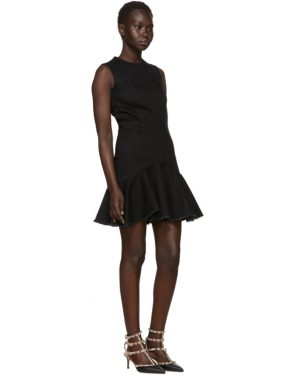 photo Black Mini Denim Dress by Alexander McQueen - Image 5