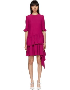 photo Pink Asymmetric Drape Dress by Alexander McQueen - Image 1