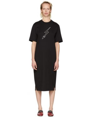 photo Black Lightning Bolt World Tour T-Shirt Dress by Givenchy - Image 1